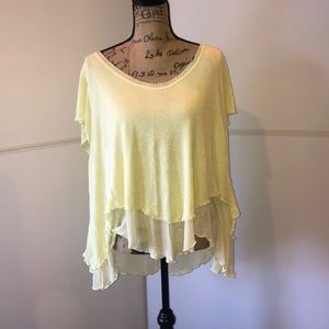 free people lemon and lime top